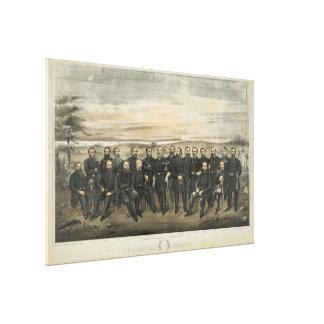 ロバートE.リー及び彼の内戦の同盟国大将 キャンバスプリント