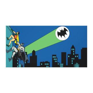 ロビンおよびバットマンの上昇 キャンバスプリント