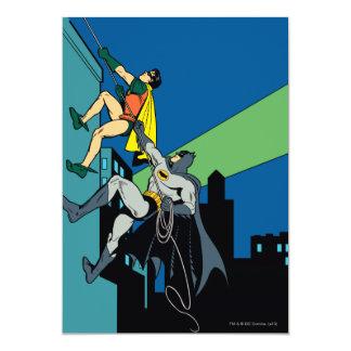 ロビンおよびバットマンの上昇 12.7 X 17.8 インビテーションカード