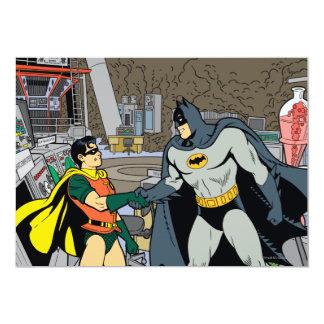 ロビンおよびバットマンの握手 12.7 X 17.8 インビテーションカード