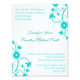 ロビンのエレガントな卵の青い花の結婚式招待状 カード