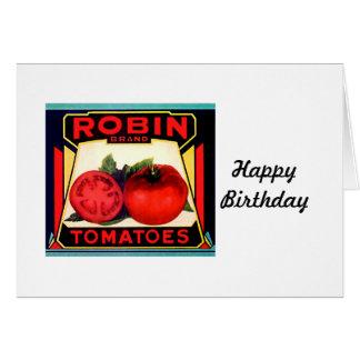 ロビンのブランドのトマトのラベル カード