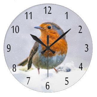 ロビンの円形の(大きい)柱時計 ラージ壁時計
