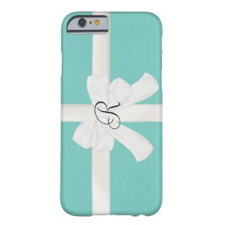 ロビンの卵の青いカスタムのイニシャルのiPhone6ケース Barely There iPhone 6 ケース