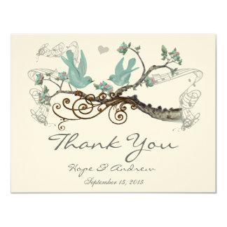 ロビンの卵の青いヴィンテージ愛鳥は感謝していしています カード