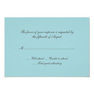 ロビンの卵の青い結婚式の応答カード 8.9 X 12.7 インビテーションカード