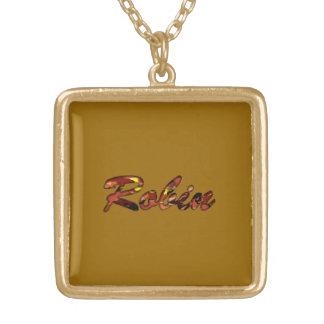 ロビンの茶色のネックレス ゴールドプレートネックレス