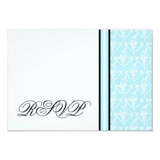 ロビンの青いダマスク織RSVPの応答カード 8.9 X 12.7 インビテーションカード