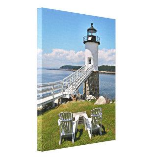 ロビンソンポイント灯台、島のAu Haut、メイン キャンバスプリント
