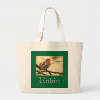 ロビン歌うこと ラージトートバッグ