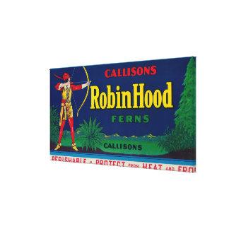 ロビン・フッドのシダのLabelWashingtonの国家 キャンバスプリント