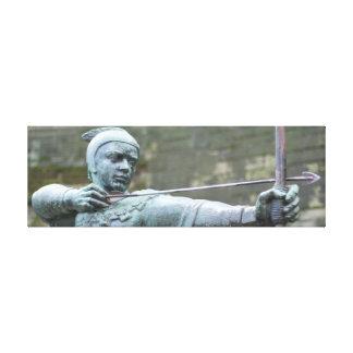 ロビン・フッドの彫像ナッティンガム キャンバスプリント