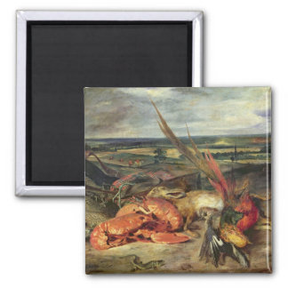 ロブスターが付いている静物画、1826-27年 マグネット