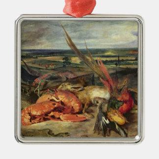 ロブスターが付いている静物画、1826-27年 メタルオーナメント