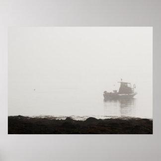 ロブスターのボート、メイン ポスター