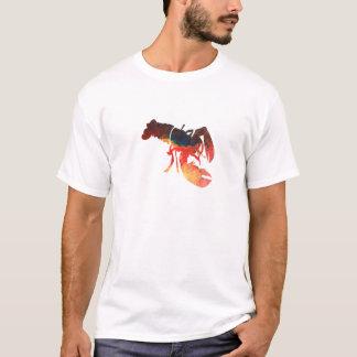 ロブスターの混合メディアのコラージュ Tシャツ