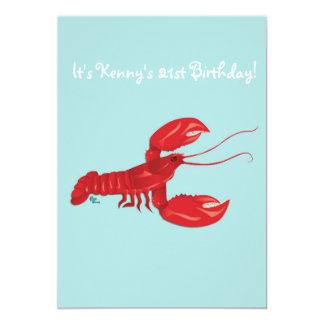 ロブスターの誕生日のパーティの招待状 12.7 X 17.8 インビテーションカード