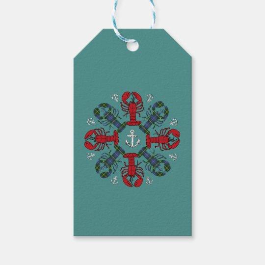 ロブスターの雪片のいかりのN.S. Christmasのギフトのラベル ギフトタグ
