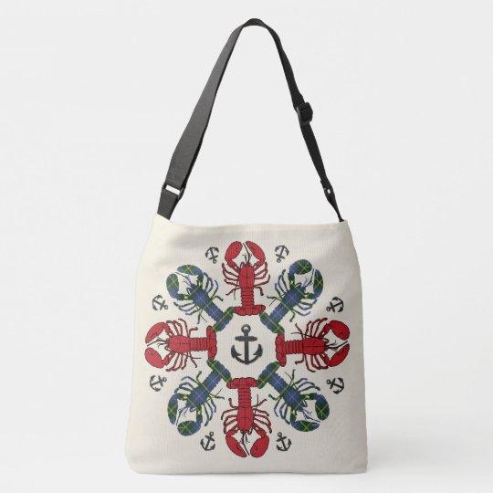ロブスターの雪片のいかりのN.S. Christmasのバッグ クロスボディバッグ