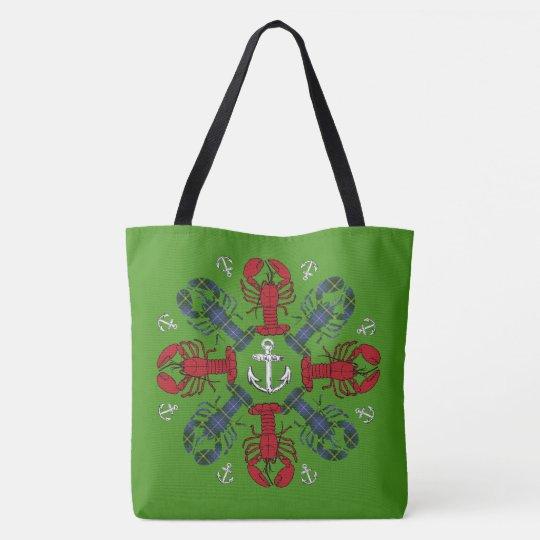 ロブスターの雪片のいかりのN.S. Christmasのバッグ トートバッグ