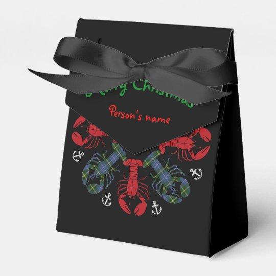 ロブスターの雪片のいかりのN.S. Christmasの御馳走バッグ フェイバーボックス