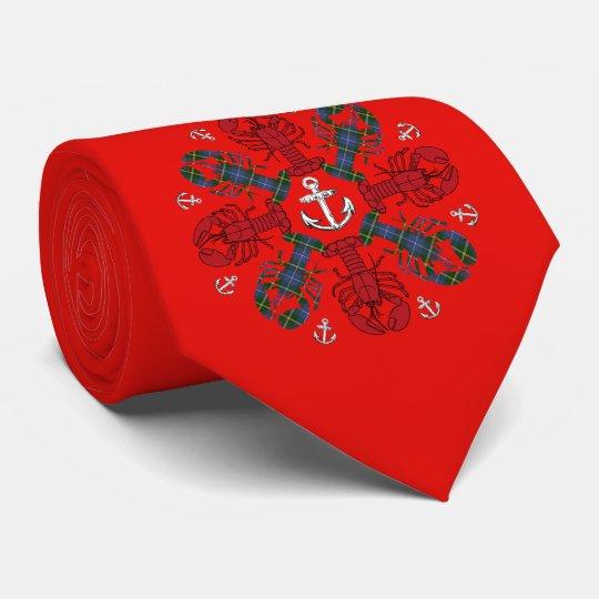 ロブスターの雪片のいかりN.S.Christmasの醜いタイ オリジナルネクタイ