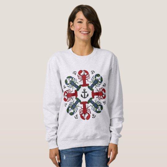 ロブスターの雪片のいかりN.S.Christmasの醜いワイシャツ スウェットシャツ
