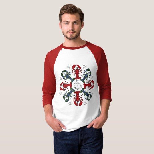 ロブスターの雪片のいかりN.S.Christmasの醜いワイシャツ Tシャツ