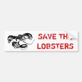ロブスターを救って下さい バンパーステッカー
