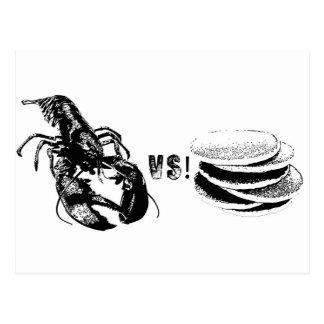 ロブスター対パンケーキ ポストカード