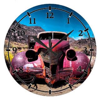 ロブスター車ヴィンテージ1939年のChevy ラージ壁時計