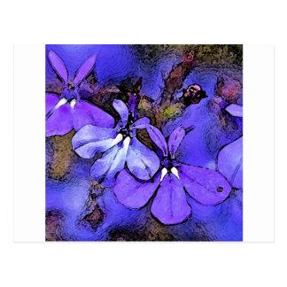 ロベリアの花 ポストカード