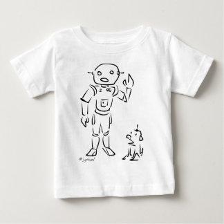 ロボットおよび彼の犬 ベビーTシャツ