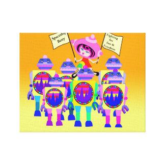 ロボットの宇宙船ベティ3月 キャンバスプリント