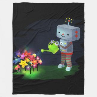 ロボットの庭 フリースブランケット