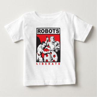 ロボットは自由に置きます ベビーTシャツ