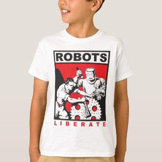 ロボットは自由に置きます Tシャツ
