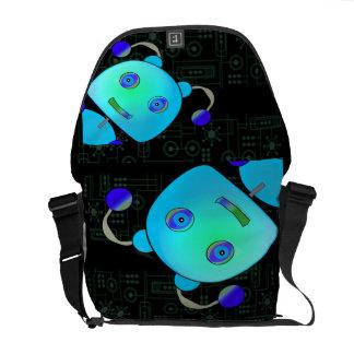 ロボットをかいま見ること メッセンジャーバッグ