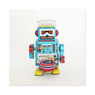 ロボットをドラムをたたくこと キャンバスプリント