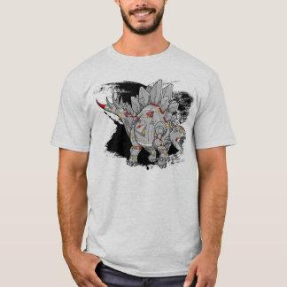 ロボットサイボーグのステゴサウルスの恐竜のTシャツ Tシャツ