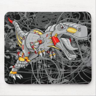 ロボットサイボーグのティラノサウルス・レックスの恐竜の   マウスパッド