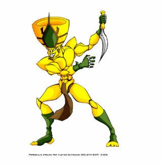 ロボット侵略者の攻撃 写真彫刻(台付き)