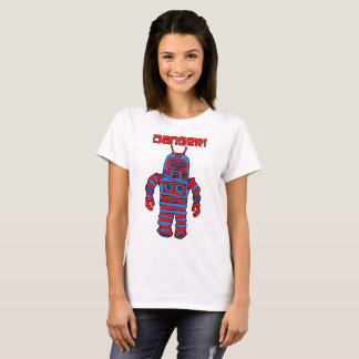 ロボット危険! Tシャツ