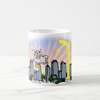 ロボット対膨脹可能な管の人 コーヒーマグカップ