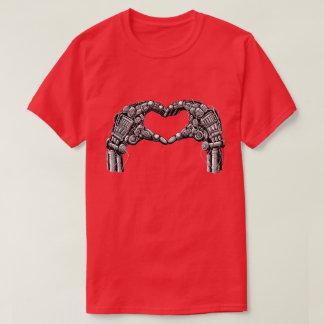 ロボット手はハートの形を作ります Tシャツ