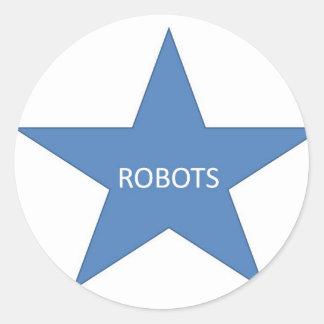 ロボット星 ラウンドシール