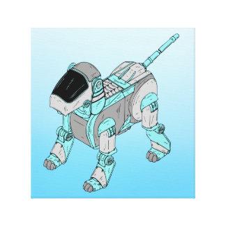 ロボット犬のキャンバスプリント キャンバスプリント