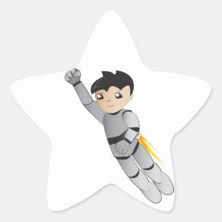 ロボット男の子 星シール