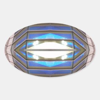 ロボット目- CricketDianeのサイエンスフィクションの芸術プロダクト 楕円形シール