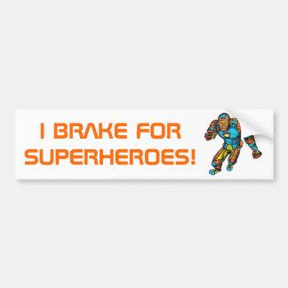 ロボット装甲のスーパーヒーロー バンパーステッカー